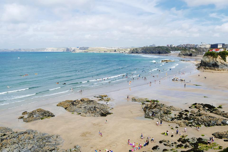Newquay, Cornwall, England, Sea, Beach, Water, British