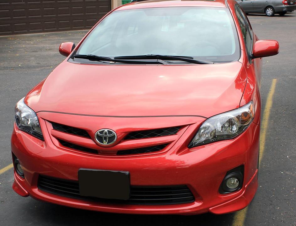 Toyota, Corolla, Red, Automobiles, Car, Automobile