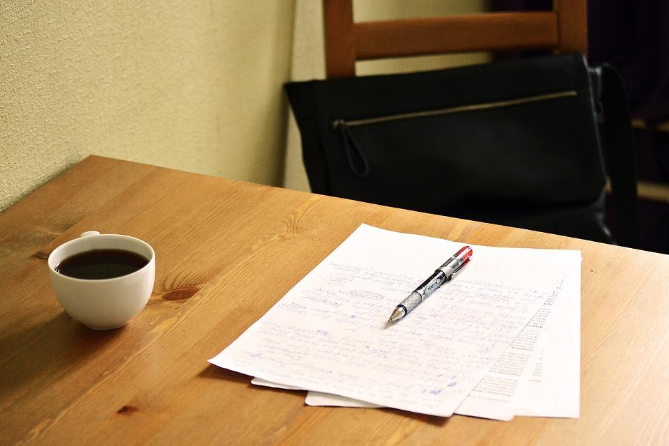 Correcting, Papers, English Teacher, Teacher, English