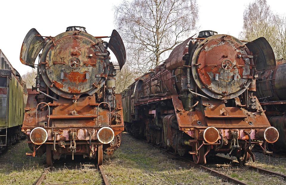 Lost Place, Lokfriedhof, Rust, Corrosion, Steel, Br44