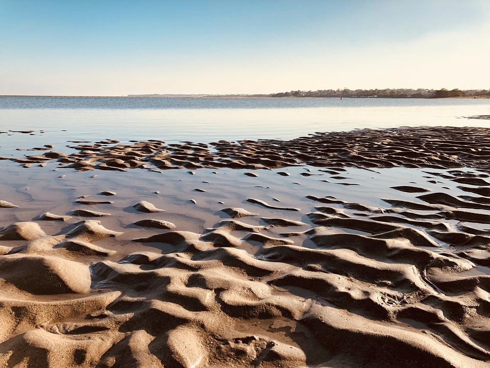 Sand, Beach, Corrugated, Coast, Sea