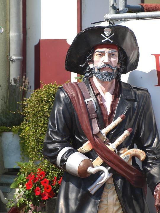 Pirate, Corsair, Sculpture, East Frisia, Dornumersiel
