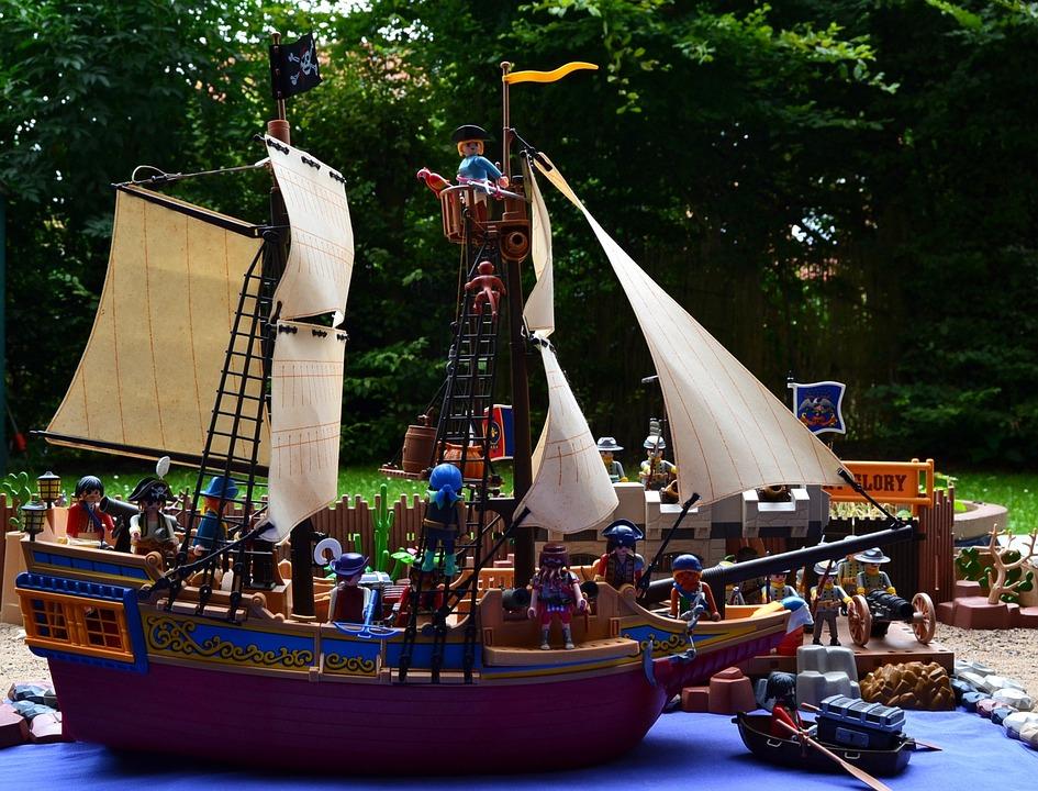 Playmobil, Adventure, Pirate Ship, Corsair, Port, Kai