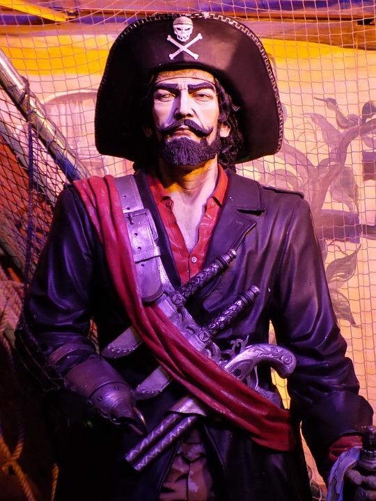 Pirate, Statue, Corsair, Captain