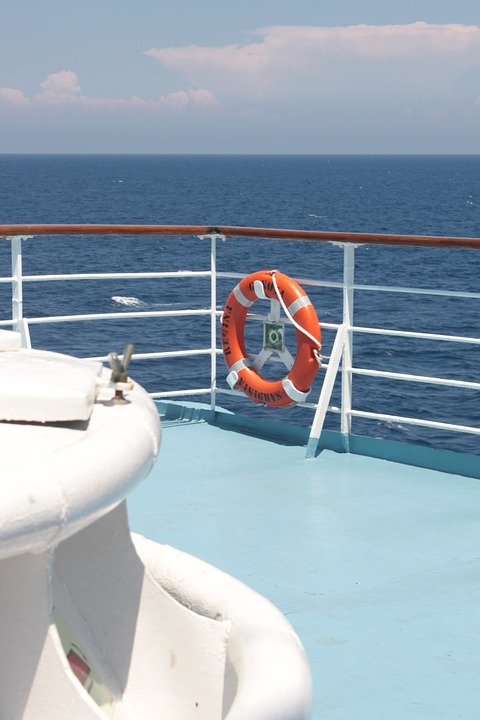 Sea, Ferry, Corsica, Lifebelt, Ship, Water, Vacations