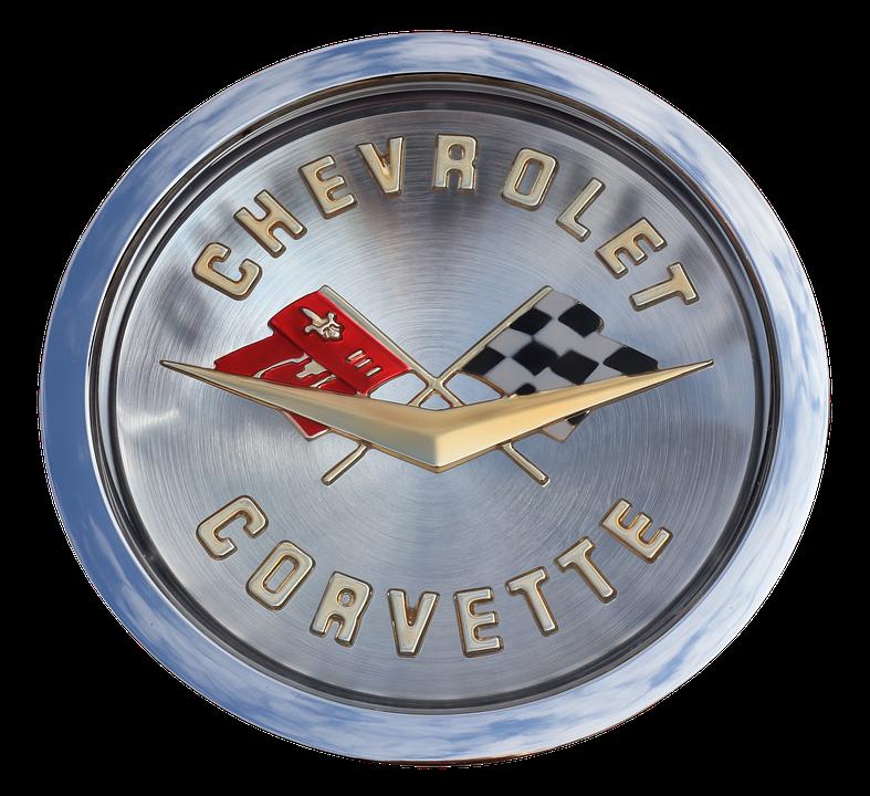 Emblem, Chevrolet, Corvette, Isolated