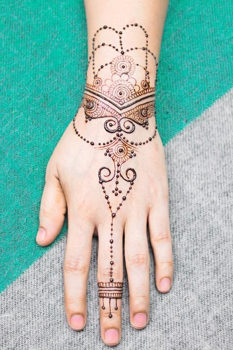 Hand, Henna, Bridal, Girl, Brown, Cosmetic, Design