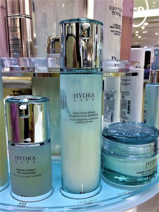 Skin Care, Cosmetics, Bottle, Facial Lotion, Latex