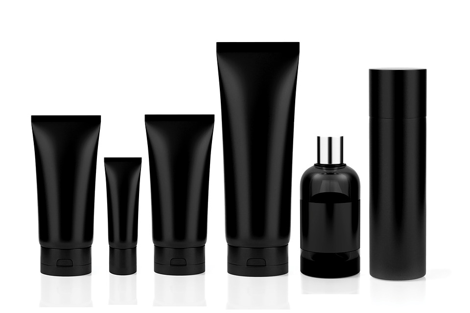 Cosmetics, Set, Tube, Perfume, Bottle, Deodorant, Black