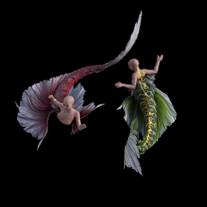 Mermaid, Tail, Costume, Cosplay, Fish, Fairytale, Tale