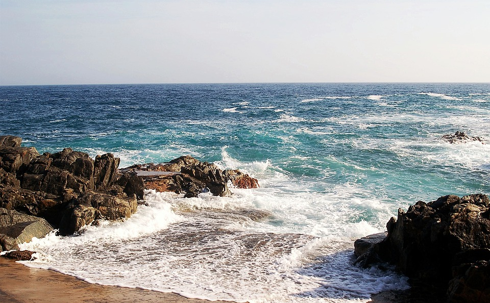 Costa Brava, Sea, Mediterranean, Blue, Beach, Rocks