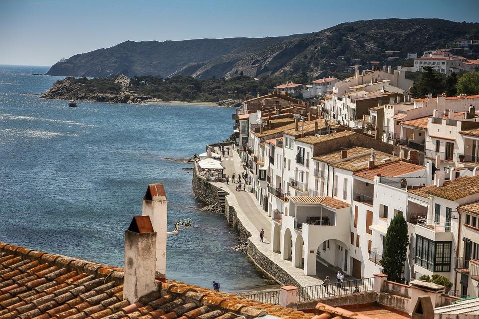 Cadaqués, Costa Brava, Catalonia, Terrace, Sea