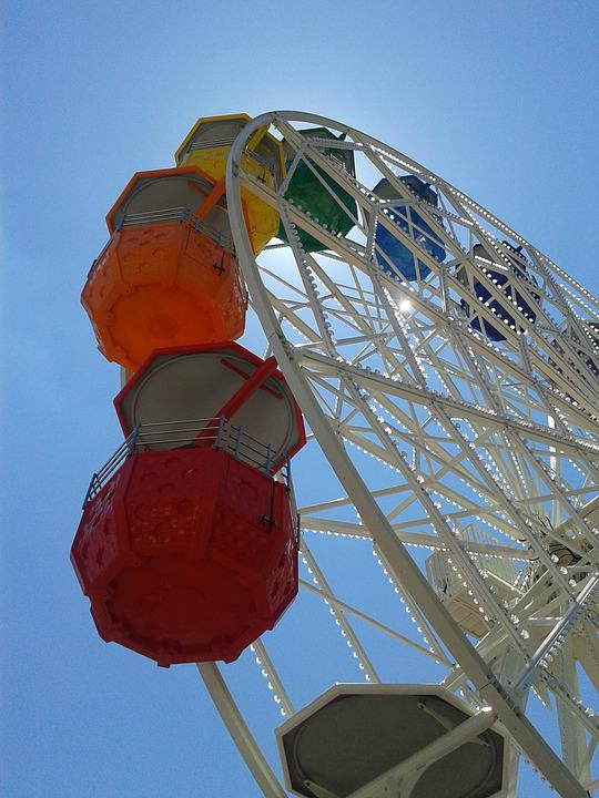 Ferris Wheel, Tibidabo, Spain, Costa Brava