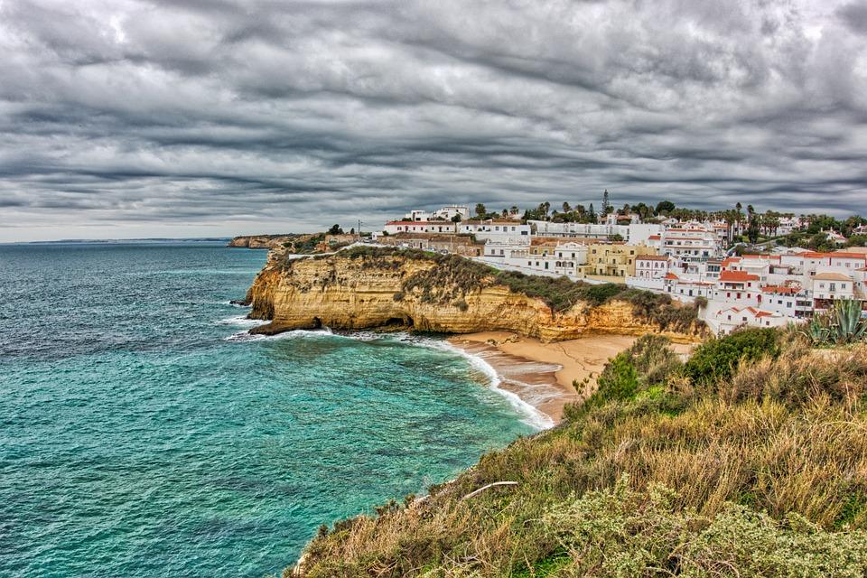 Portugal, Carvoeiro, Beach, Algarve, Mar, Costa