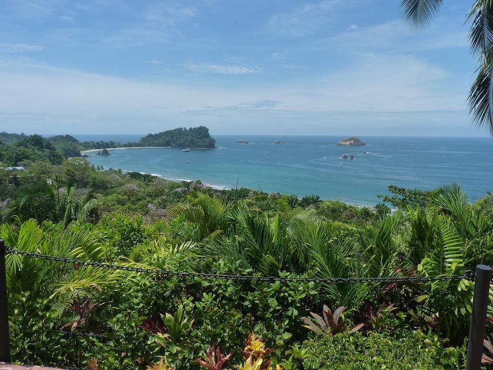 Sea, View, Beach, Costa Rica, Manuel Antonio
