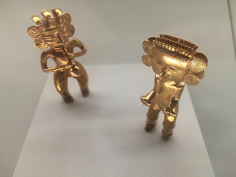 Gold, Figures, Inca, Costa Rica, Museum, Culture