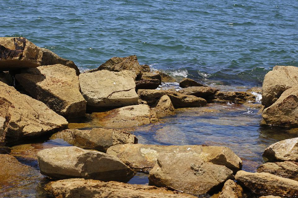 Sea, Rocks, Expansion, Ocean, Beach, Nature, Sky, Costa