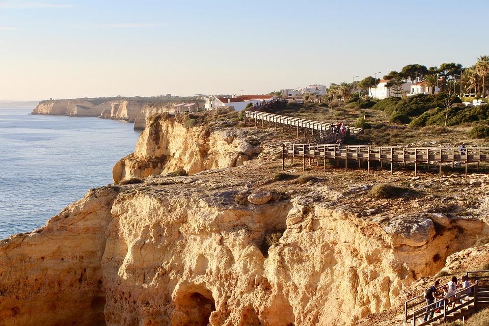 Portugal, Algarve, Cliffs, Costa, Sea, Ocean, Water