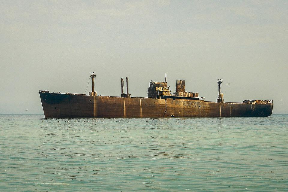 Sea, Ship, Costinesti, Water, Birds, Summer, Romania