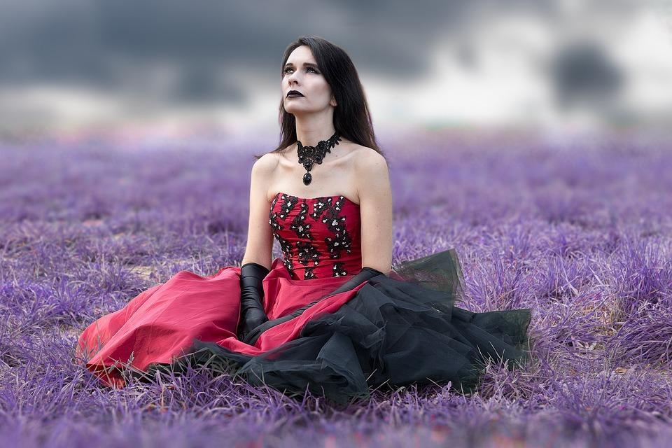 Gothic, Woman, Dress, Costume, Surreal, Makeup, Mystic