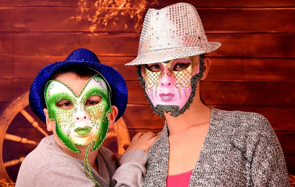 Masks, Carnival, Masquerade, Fool-time, Costumes, Panel