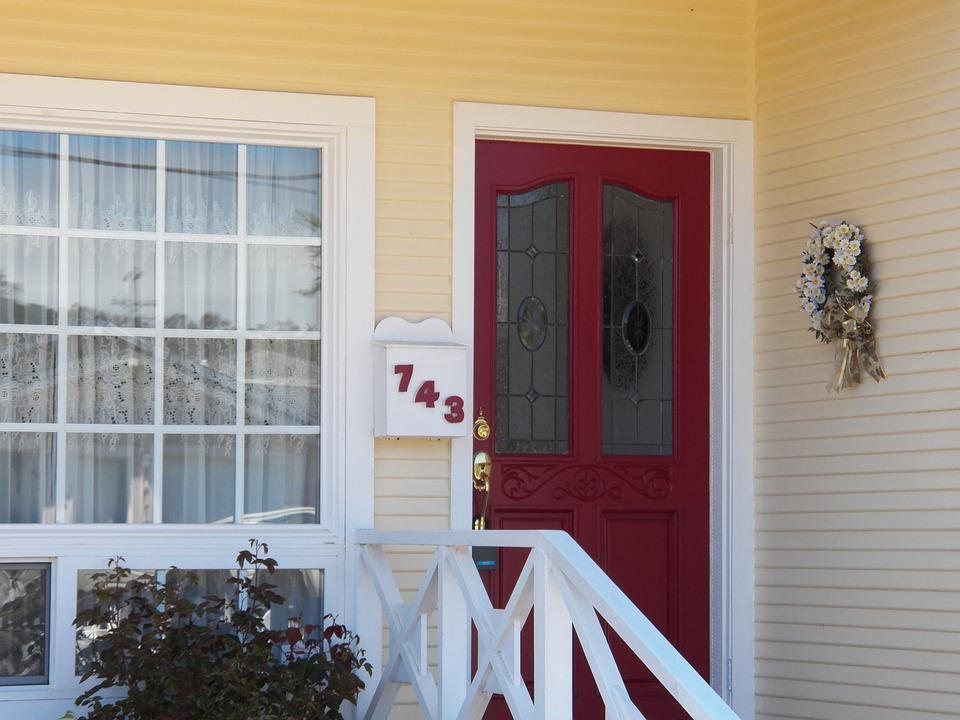Door, Porch, House, Home, Architecture, Cottage