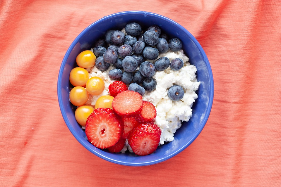 Cottage Cheese, Food, Breakfast, Diet, Delicious