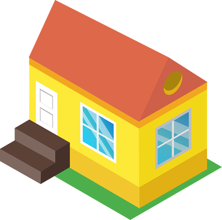 Isometry, Cottage, Residential, House, Dacha, Province