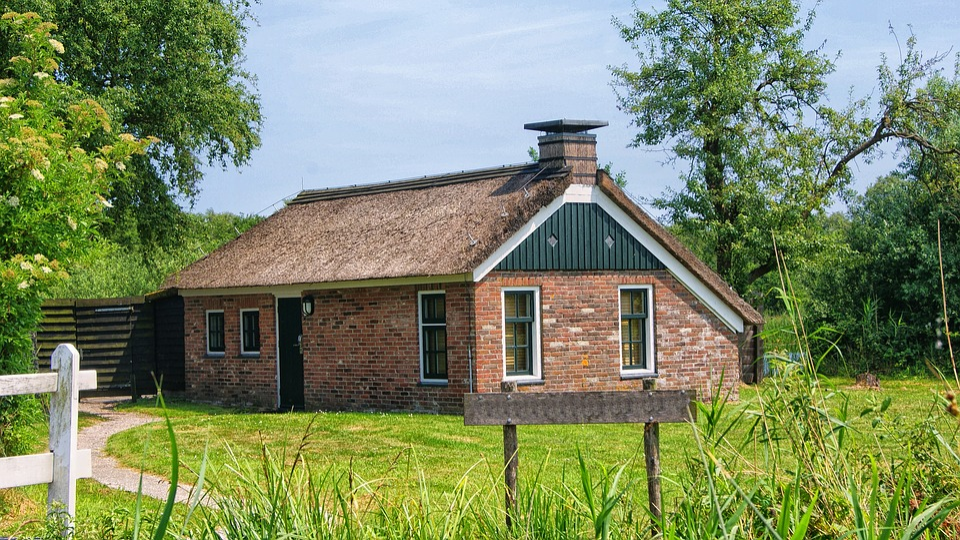 Farm, Cottage, House, Romance, Holland, Netherlands