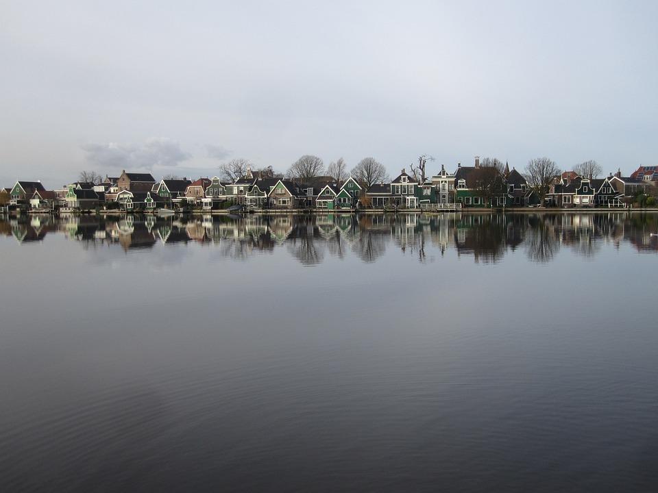Holland, Cottages, Zaanse Schans, Water, Nature