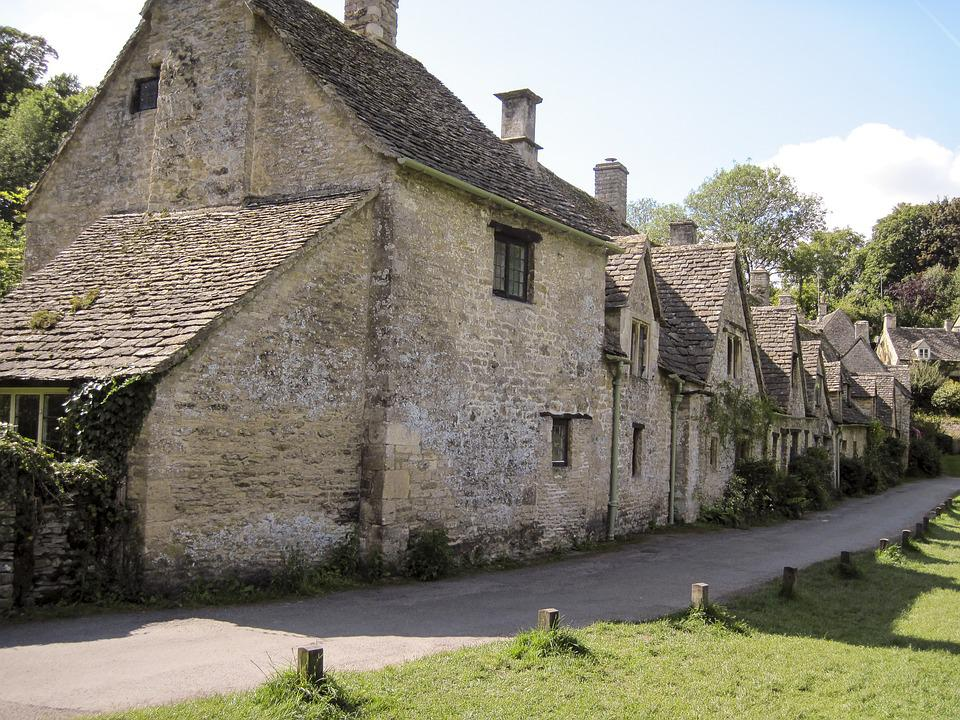Cottages, Lane, House, Landscape, Road, Rural, Village