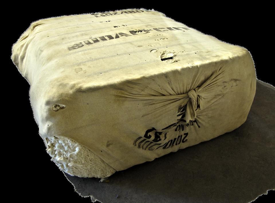 Bale, Cotton, Cotton Bales, Packaging, Linen Bag
