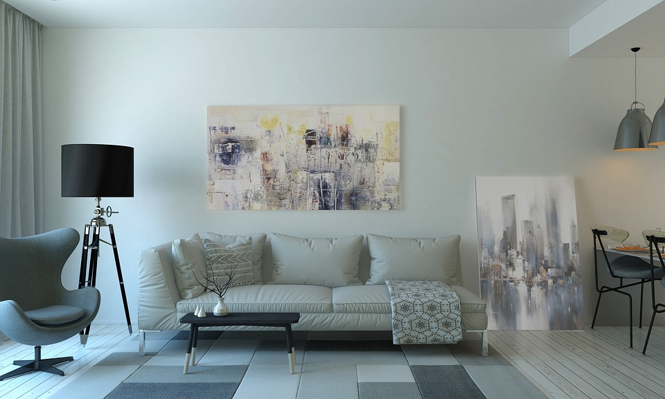 Living Room, Interior Design, Furniture, Lamp, Couch