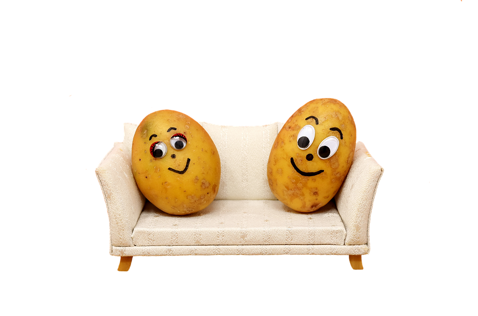 Couch Potatoes, Organic Potatoes, Nature, Funny