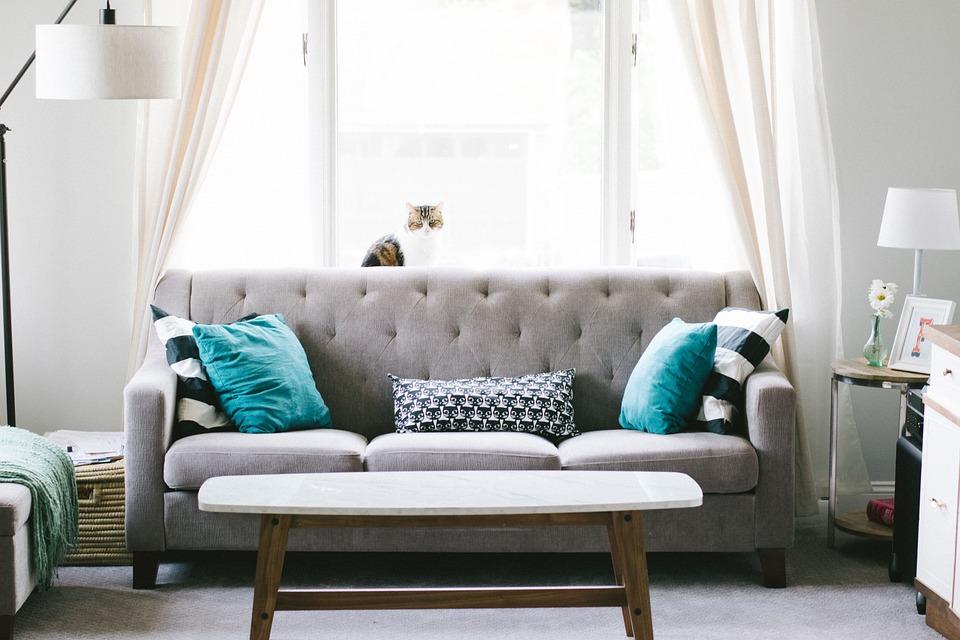Living Room, Sofa, Couch, Interior Design, Decoration