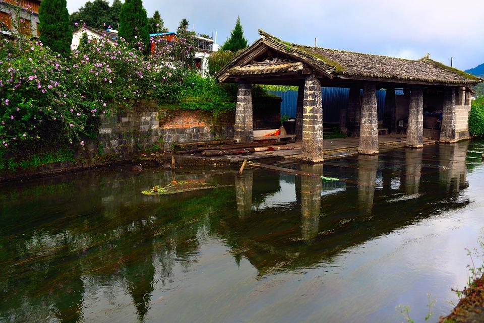 Creek, Country, Tourism, China, Tengchong, Folk, River