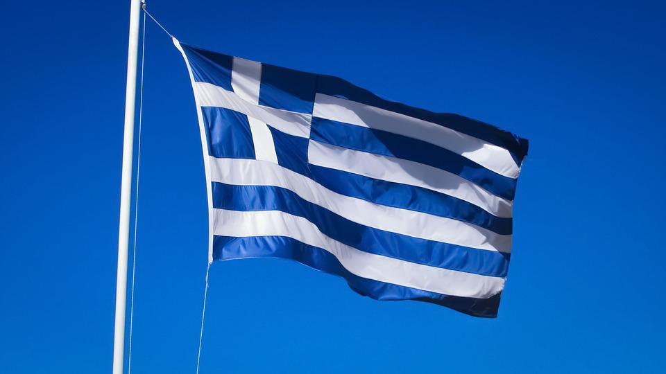 Greece, Country, Nation, Greek, Flag, Waving, Europe