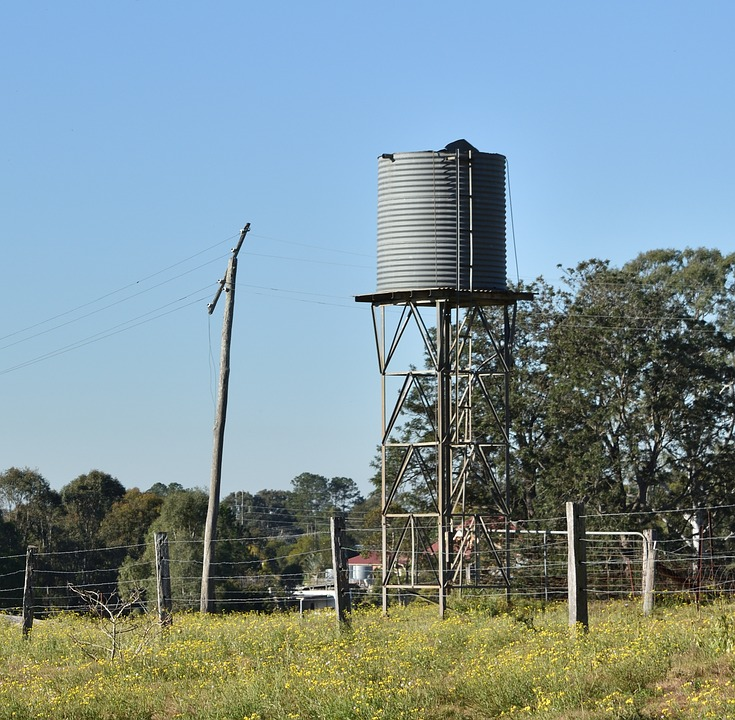 Water Tank, Farm, Country