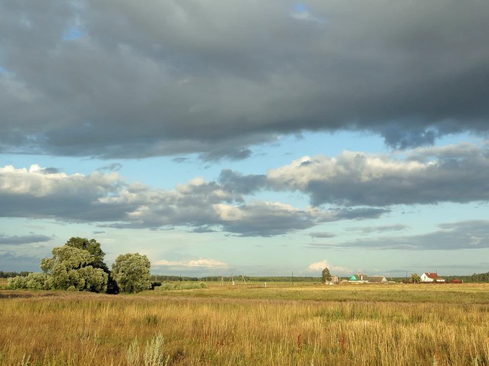 Russia, Landscape, Scenic, Fields, Farm, Rural, Country