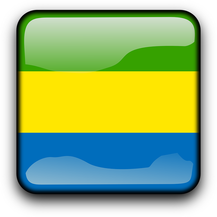 Gabon, Flag, Country, Nationality, Square, Button
