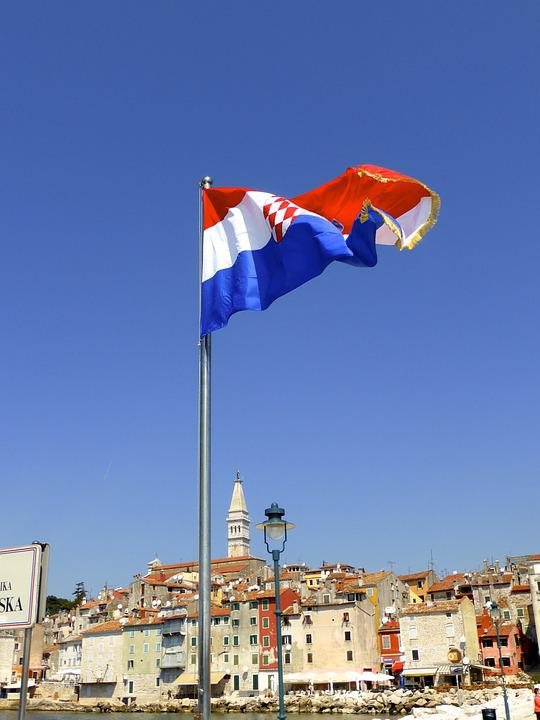 Flag, Croatia, National, Country, Independence, Sign