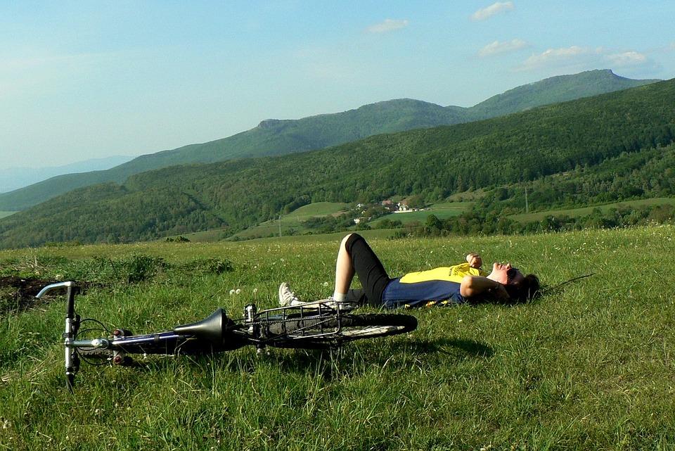 Slovakia, Mountains, Country, Vtáčnik, Man, Bike, Trip