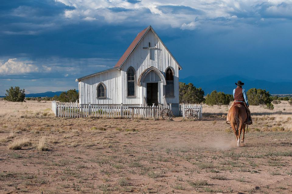 Chapel, Clouds, Countryside, Daylight, Desert, Dry