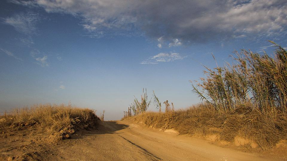 Dirt Road, Countryside, Dusty, Autumn, Clouds, Sky