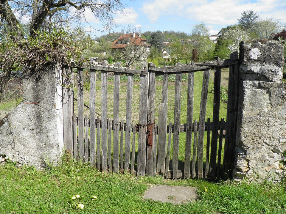 Barrier, Portal, Garden, Field, Closing, Countryside