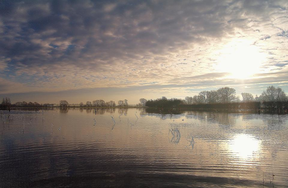 Lake, Winter, Countryside, Country, Landscape