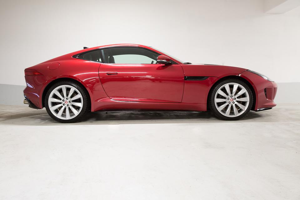 Jaguar, F Type, Coupe, Red, Side