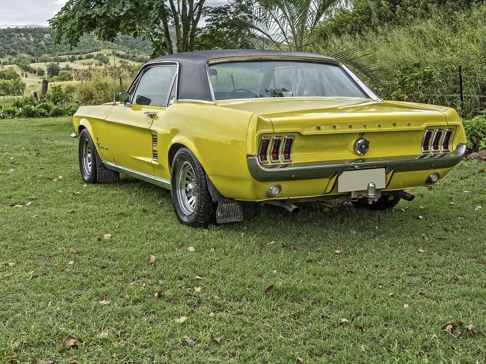 Car, Mustang, Yellow, Speed, Design, Auto, Power, Coupe