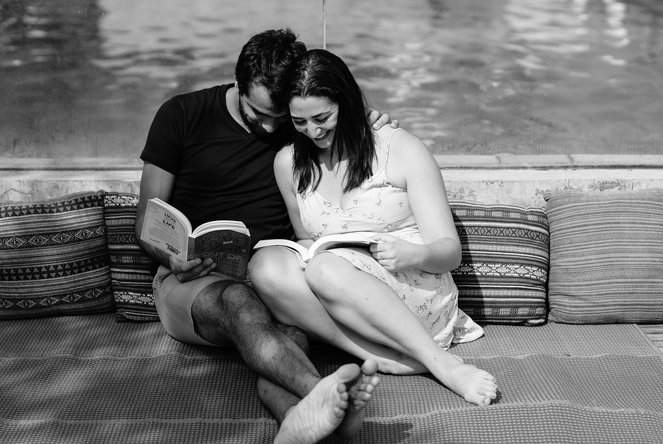 Books, Reading, Couples Reading Books, Couple, Romance