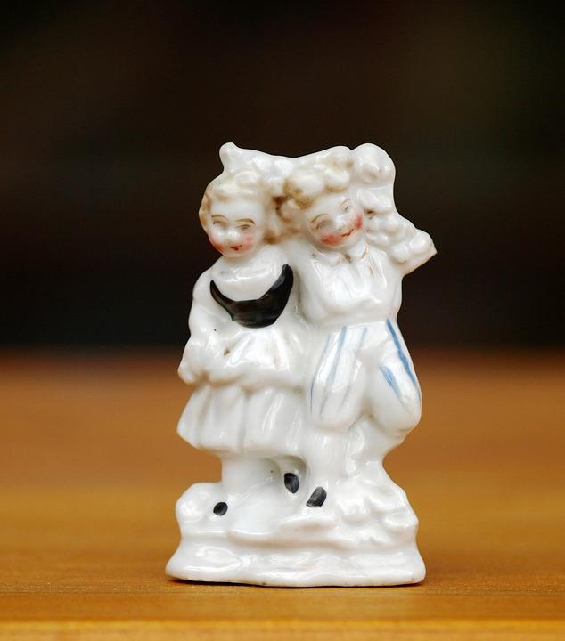 Porcelain Figurine, Fig, Porcelain, Antique, Couple